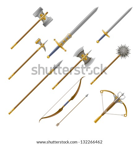medieval weapons set