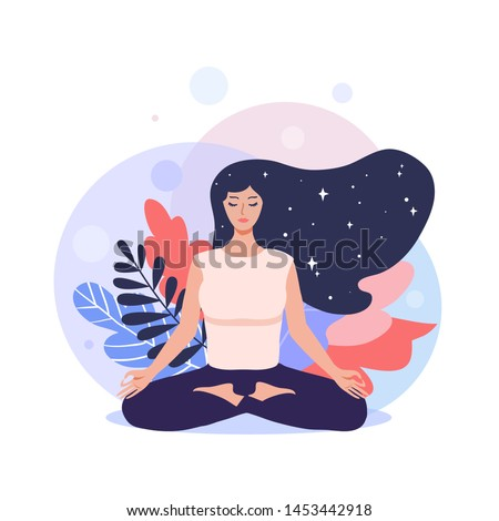meditation concept pretty yoga