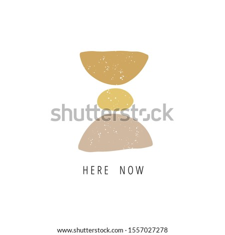 meditation stones flat vector