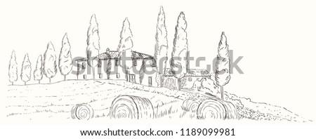 mediterranean landscape autumn