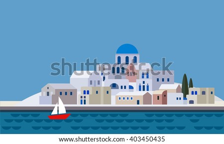 mediterranean landscape by sea