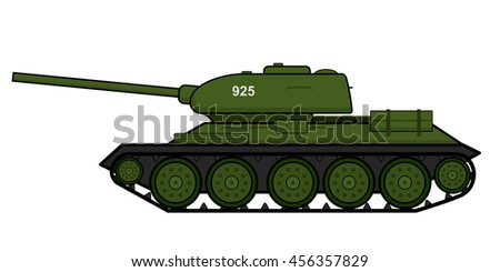 medium battle tank t 34 vector