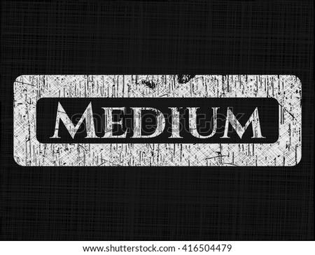 Medium chalk emblem, retro style, chalk or chalkboard texture