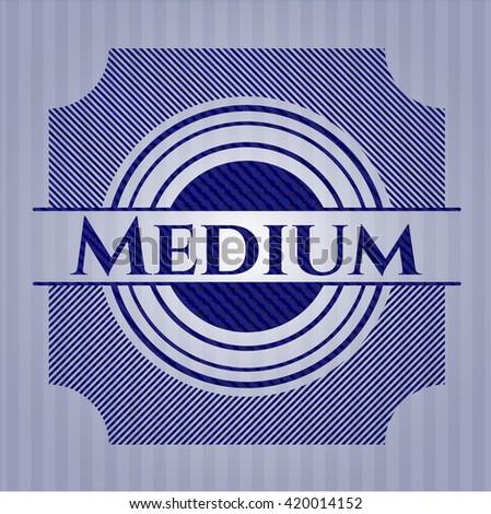 Medium emblem with jean background