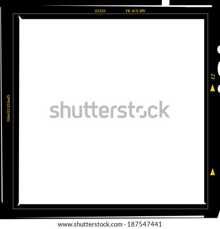 medium format negative photo frame, free copy space, isolated, vector illustration