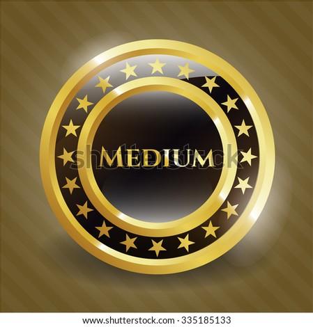 Medium gold badge or emblem