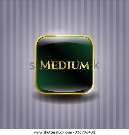 Medium gold emblem