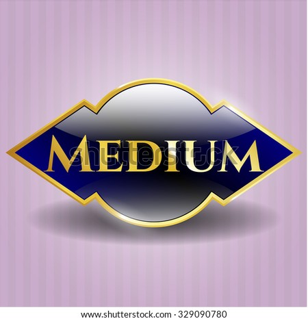 Medium gold emblem or badge