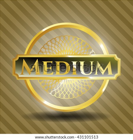 Medium gold shiny badge