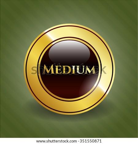 Medium golden badge