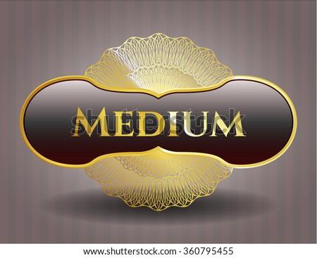 Medium golden emblem