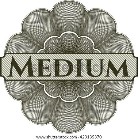 Medium money style rosette