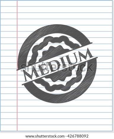 Medium pencil strokes emblem