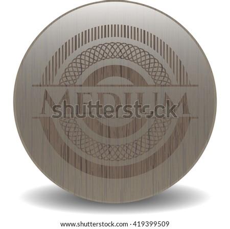Medium realistic wood emblem