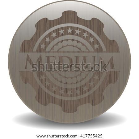 Medium retro style wooden emblem