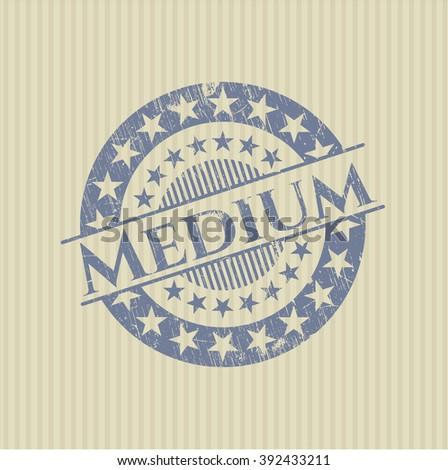 Medium rubber stamp