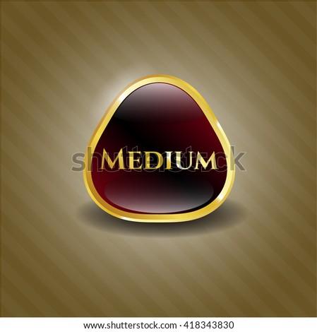 Medium shiny badge