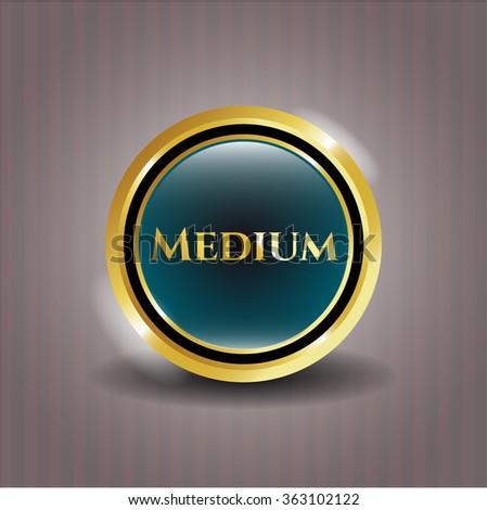 Medium shiny emblem