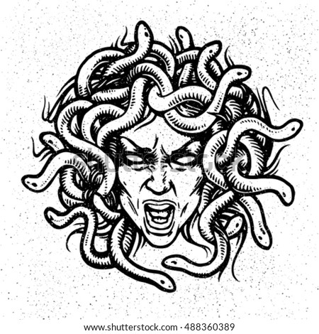 medusa head vector emblem