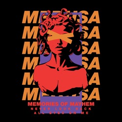 Medusa with slogan Vector design for t-shirt graphics, banner, fashion prints, slogan tees, stickers, flyer, posters and other creative uses