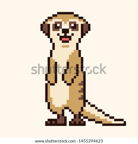 meerkat cartoon cute pixel