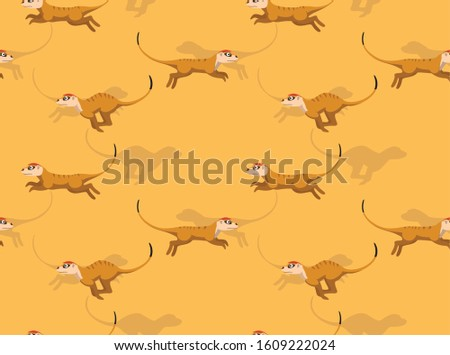 meerkat running cartoon vector
