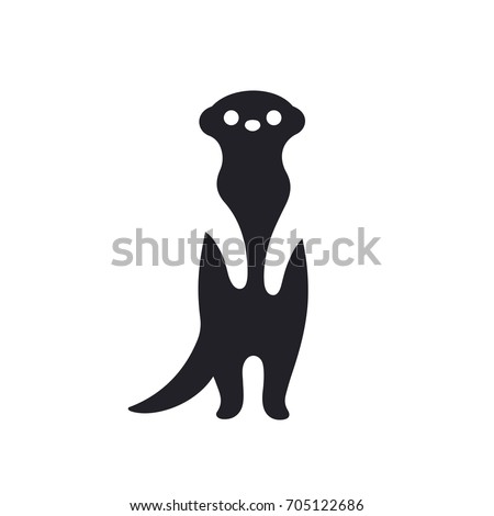 meerkat standing on hind legs