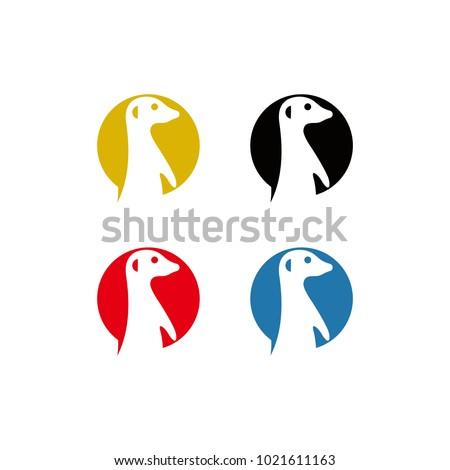 meerkat vector logo graphic