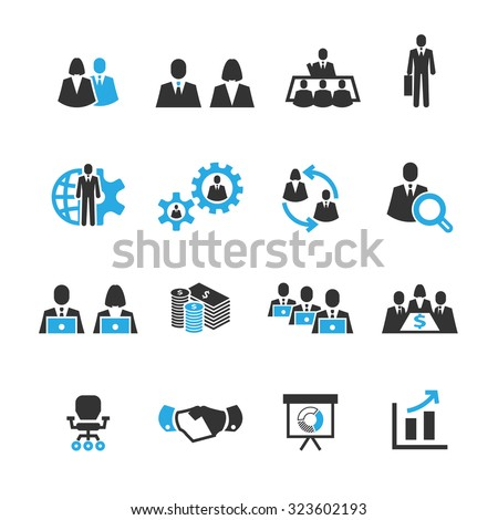 Meeting and business icons,Vector