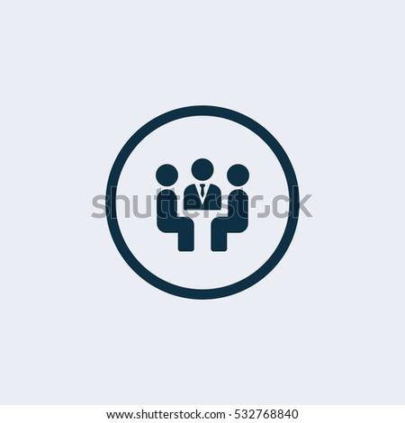 Meeting Icon Vector
