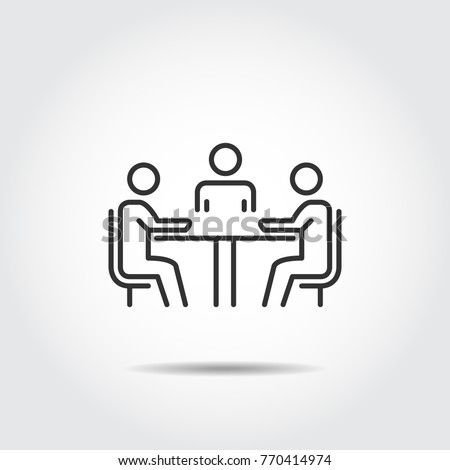 meeting icon vector illustration