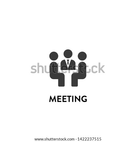 meeting icon vector. meeting vector graphic illustration