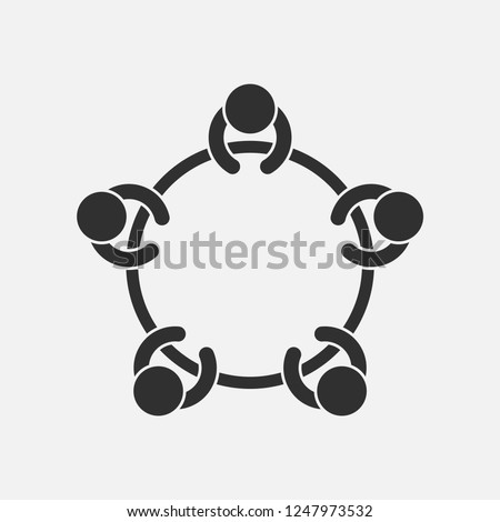 Meeting isolated on white background. Vector illustration. Eps 10.