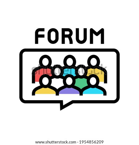meeting on forum color icon vector. meeting on forum sign. isolated symbol illustration Stock photo ©