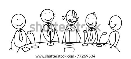 meeting team vector