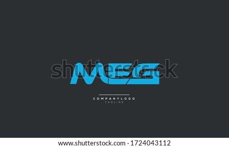 MEG Letter Logo Design Icon Vector Symbol Stock fotó ©