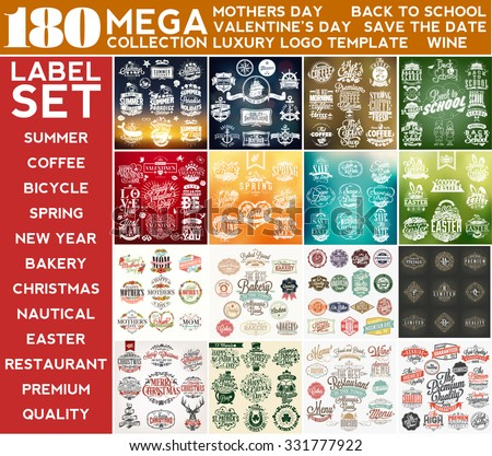 mega collection label set