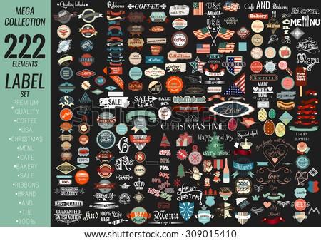 mega collection labels set