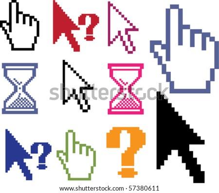 mega cursors. vector