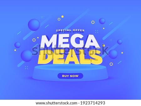 Mega deals sale banner background. Stock fotó ©