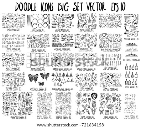 MEGA doodles Data,Circle,Arrow,Music,People,Party,Font,Sport,School,Heart,Frame,Banner,Bubble,Leaf,Business,Insect,Tree,Food,Summer,Halloween,Cactus,Unicorn,Animal,Media,Art tool,City,Bottle,mark