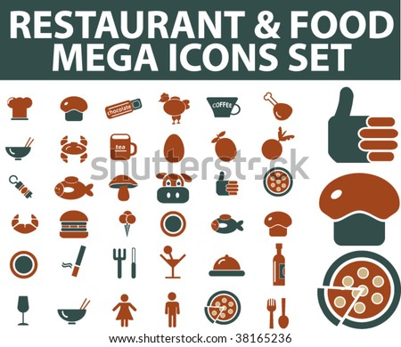 mega food icons. vector