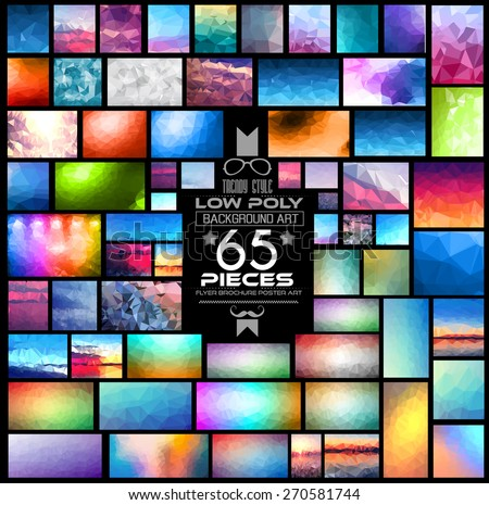stock-vector-mega-pack-of-low-polygonal-backgrounds-pieces-included-a-lot-of-different-shapes-styles-and