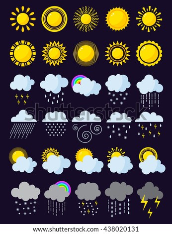 mega pack of weather icons snow