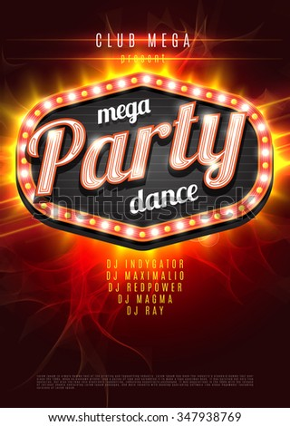mega party dance poster