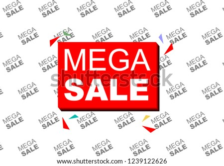 Mega Sale Banner Template With Backdrop