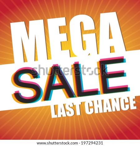 mega sale last chance  vector
