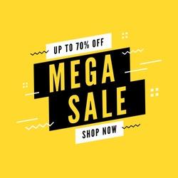 Mega sale special offer. End of season special offer banner.