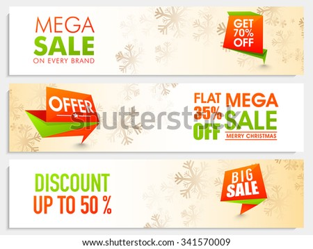 mega sale website header or