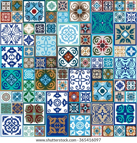 Rich ceramic tiles mega set colorful vintage tiles with moroccan